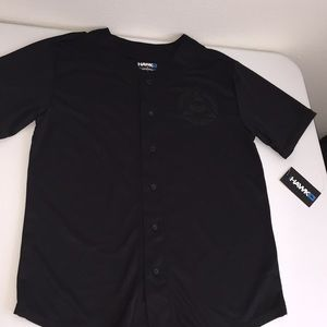 Tony Hawk black button up shirt